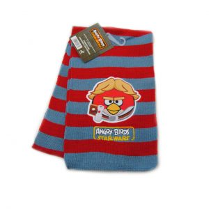 Szalik Angry Bird kolor: szaro-czerwony
